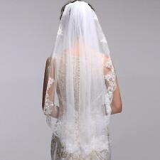 One-Layer White Ivory 90cm lace Edge Bridal Accessories Veil With Comb