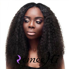 Afro Curly 100% Indian Remy Human Hair Woman Lace Front Wig Full Lace Wigs