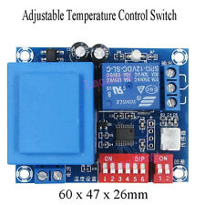 12 24V 220V Adjustable Temperature Control Switch DIP Switch Thermostat -26~100℃