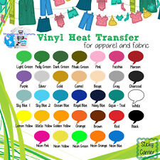 "Easy weed Iron On Heat Transfer Vinyl (15""x5 Yards ) Roll SELECT YOUR COLORS! :)"