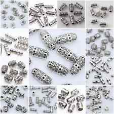 Hotsale Silver Plated Loose Spacer Beads Charms Findings Jewelry DIY 20-100pcs