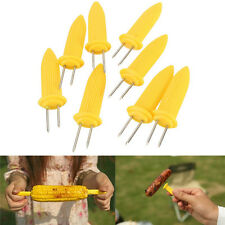 6/12/18/24p Safe Corn on the Cob Holders Skewers Needle Prongs For BBQ Barbecue