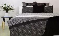 ROGUE 100% Cotton BLACK Quilted QUEEN*KING*EURO Quilt Doona Duvet Cover Set