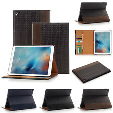 Folio Textured Smart Leather Wallet Stand Cover Case for Apple iPad Pro 9.7""