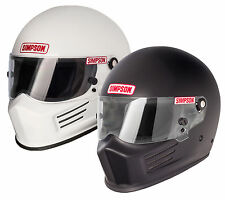 Simpson Bandit Helmet/Lid Snell SA2010 Gloss White or Matt Black All Sizes RACE