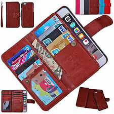 PU Leather Women / Men Handbag Cash Wallet Clutch Phone Case Cover For Phones