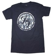 Foo Fighters Rock Music Band City Circle Logo Men's Navy Blue Cotton T-Shirt