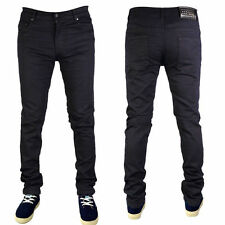 MENS BLACK G72 DENIM SUPER STRETCH SKINNY SLIM FIT JEANS ALL WAIST & LEG SIZES