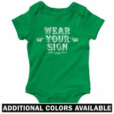 Wear Your Sign One Piece - Baby Infant Creeper Romper NB-24M - Silly Funny Joke