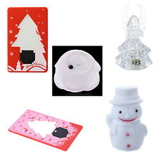 Color Changing Snowman Night Light LED Lamp Christmas Gift XMAS Decoration WD