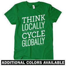 Think Locally Cycle Globally Women's T-shirt S-2X - Cycling Bicycle Cyclist Bike