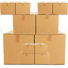 "Cardboard Postal Mailing Boxes 12"" x 12"" x 12"" Strong Double Wall Cartons"