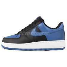 Nike Air Force 1 Black Blue Mens Classic Casual Shoes AF1 Sneakers 820266-010