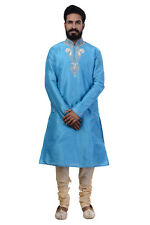 Ethnic Men Indian Designer Kurta 2pc Suit (Worldwide Postage)