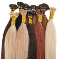 50g 100pcs 18'' 20'' 22'' Remy Real I-Tip Human Hair Extensions + Micro Beads