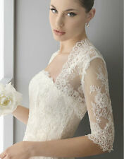 New Lace Shawl Bolero Wedding Jacket Bridal Custom Size full Sleeve T57US