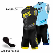 FDX Men Triathlon Tri Suit Padded Compression Running Swimming Cycling Skinsuit