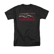AIRWOLF HELICOPTER GRID Officially Licensed Men's Graphic Tee Shirt SM-5XL