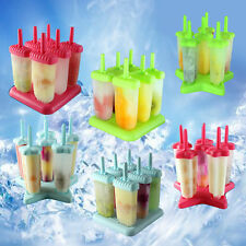 1Set 6 Cell Summer Ice Lolly Maker Cream Popsicle Molds Mould Icebox Tool 2Typ