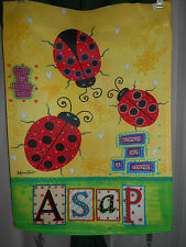 @ ALWAYS SAY A PRAYER ASAP ~LADYBUGS ~ GARDEN FLAG ~ 12 X 18 ~ BY ANNIE LaPOINT