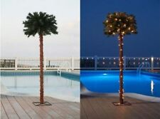 5ft Lighted Palm Tree Artificial Outdoor Tiki Pool Yard Decor Party Patio Garden