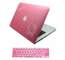 2-in-1 Pink Hello Kitty Hard Case + Pink Hello Kitty Keyboard Cover for Macbook