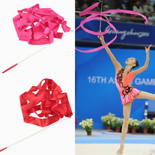Hot Dance Ribbon Gym Rhythmic Gymnastic Art Ballet Streamer Twirling Rod Baton