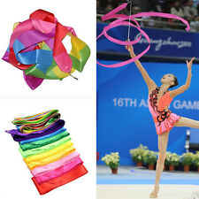 New 4M Dance Ribbon Gym Rhythmic Gymnastic Art Ballet Streamer Twirling Baton