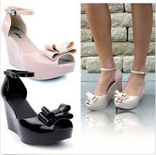 New Women's Wedge Jelly Sandals Summer High Heel Platforms Open Toe Shoes L13