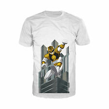 Power Rangers White Ranger Deco Official Mens Ladies White T-Shirt