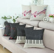 Cushion Covers Pillows Shell Music Theme Piano Music Note 45cm X 45cm Home Decor
