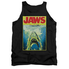 JAWS BRIGHT JAWS Licensed Men's Graphic Tank Top Sleeveless SM-2XL