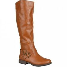 Brinley Co. Womens Round Toe Buckle Detail Boots. Shipping is Free