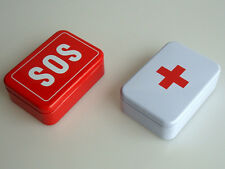 SOS  Tin Box Case Lid Container for Survival Gear Kits Set First Aid Pill Box