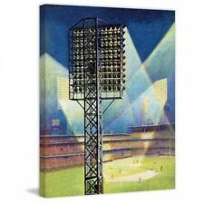 Marmont Hill Baseball Stadium at Night by Roy Hilton Painting Print on Canvas. S