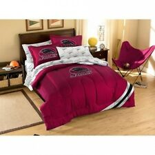 NCAA Applique Bedding Comforter Set with Sheets, Southern Illinois University. B