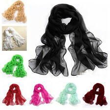 Hot Girls Women's Fashion Long Soft Wrap Lady Scarves Shawl Silk Chiffon Scarf