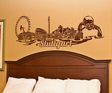 wall tattoo Skyline XXL Stuttgart Wall Sticker City Germany City 1M136