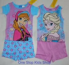 FROZEN Girls 4 6 8 10 Pjs Set PAJAMAS Short Sleeve Shirt Shorts ELSA Anna Disney