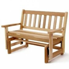 All Things Cedar 1.2m Western Red Cedar Outdoor Glider Loveseat. Free Delivery