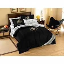 NCAA Applique Bedding Comforter Set with Sheets, University of Colorado. Shippin