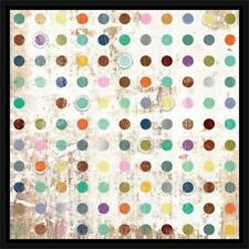 Circle Polka Dot Distressed Wood Texture Contemporary Modern Abstract Painting T