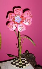 """""""Loves Me,Loves Me Not"""" 12""""H. Magnetic Flower / Stem,The Round Top Collection"""