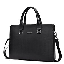 Men's Leather Business Laptop bag Briefcase Attache Tote Hadbag Messenger Bag