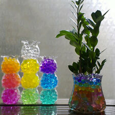 1000Pcs Magic Jelly Crystal Mud Soil Water Pearl Gel Beads Flower Plant Decor