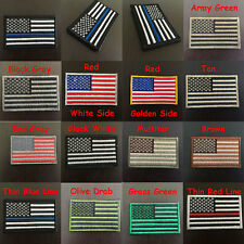 American Flag Embroidered Patch USA Military Tactical Morale Velcro Desert Badge