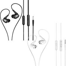 3.5mm In-Ear Headphone with Mic Earbud Earphones for iPhone Android Samsung E2F8