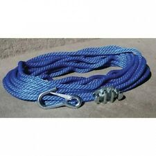 Panther Blue Polypropylene 1cm Anchor Rope Includes No-Tie Rope Cleat and Snap H
