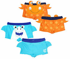Boys Trunks Swim Boxer Shorts Novelty Shark Crab Baby Toddler 3 Months - 5 Years