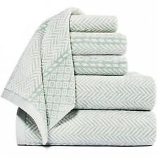 Vendome Cotton Yarn Dyed Jacquard 6-Piece Towel Set. Shipping Included